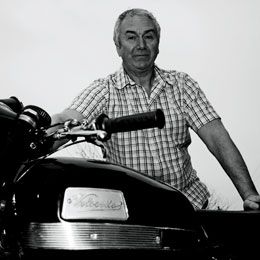 Rod Burris and his Velocette